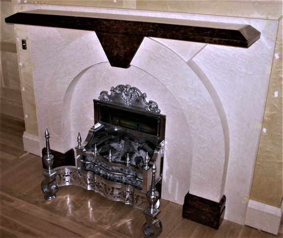 French polished fireplace